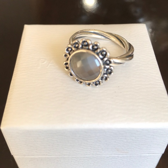87439c34e ... get pandora sterling silver ring with grey moonstone. 68e7c 45538